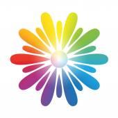 Flower Rainbow Gradient White