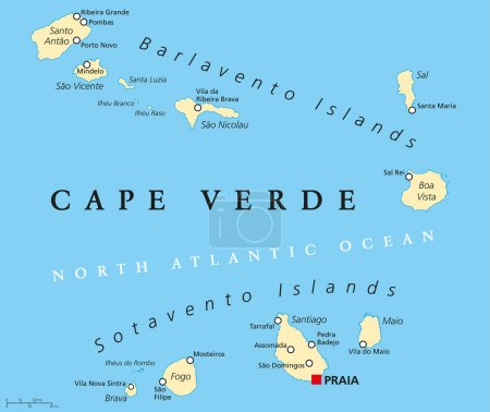 Cape Verde Political Map
