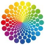 Flower symbol graphic made of geometrically arrang...