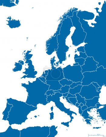 Europe Political Map Outline
