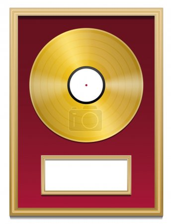Gold Record Plaque Blank Frame