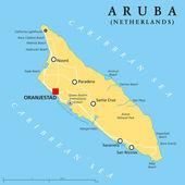 Aruba Political Map