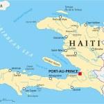 Постер, плакат: Haiti Political Map