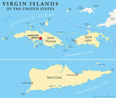 United States Virgin Islands Political Map