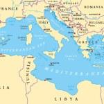 Region of lands around the Mediterranean Sea. Sout...