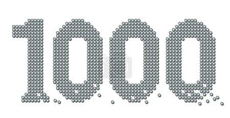 Thousand Exact Counted Iron Balls Number