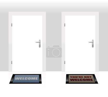 Welcome Not Welcome Door Mats