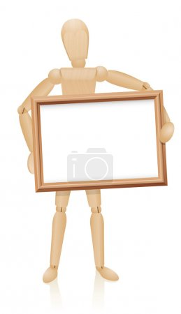 Figure Holding Frame In Front Of Him