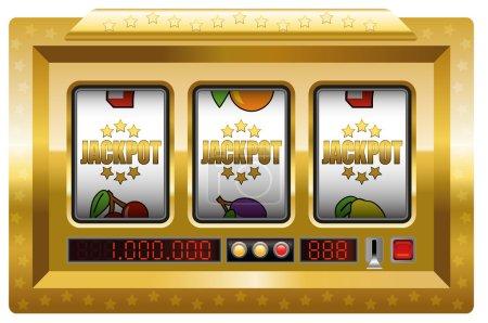 Illustration pour Jackpot symboles machine à sous. Illustration sur fond blanc . - image libre de droit