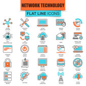 Set of thin line icons cloud data technology services global connection cloud computing Modern mono flat linear concept pictogram set simple outline icon for designers Collection flat line icon EPS10
