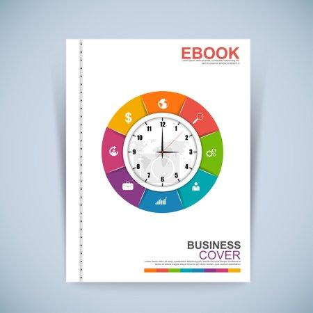 Cover Book Digital Design Minimal Style Template
