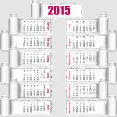 Torn paper calendar 2015 design EPS10