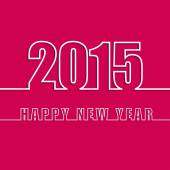 Happy new year 2015 creative greeting card design EPS10
