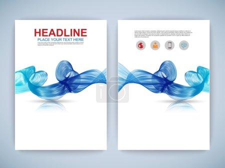 Illustration for Set of Flyer, Brochure Design Templates. EPS10 - Royalty Free Image