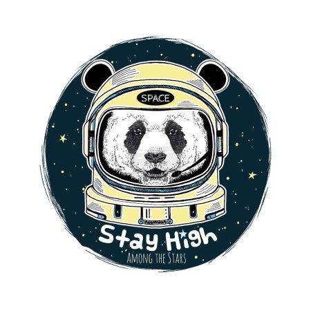 panda astronaut illustration