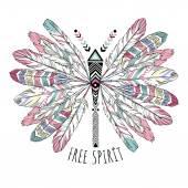 bohemian butterfly illustration