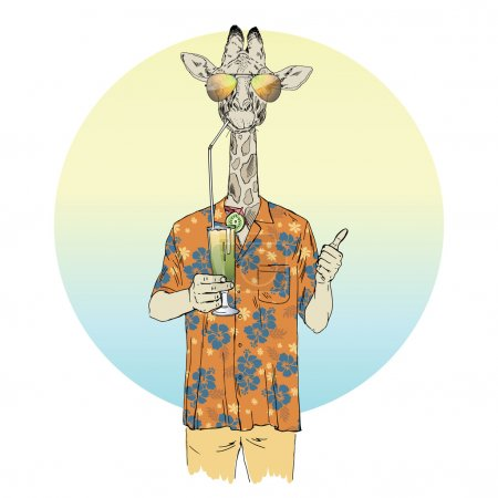 giraffe boy drinking cocktail
