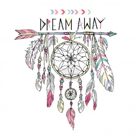Hand drawn dream catcher