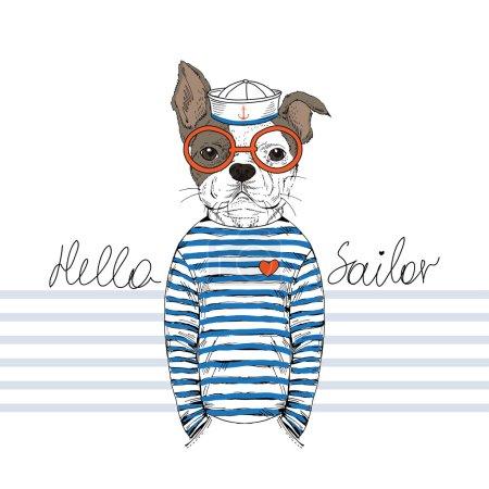 French bulldog sailor