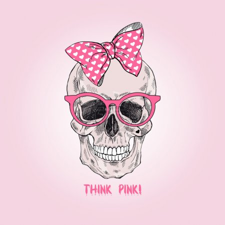 glamour girly scull