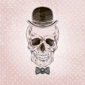 Scull in bowler hat
