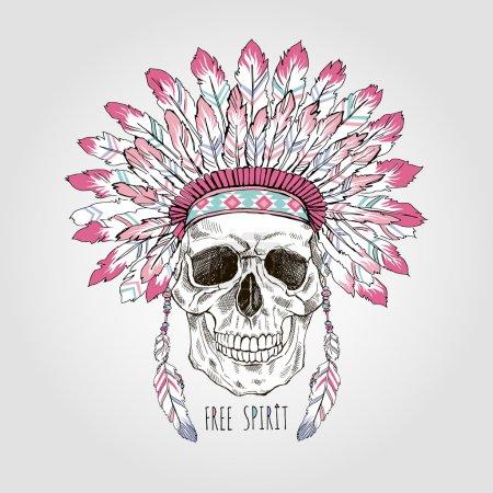 Native american scull