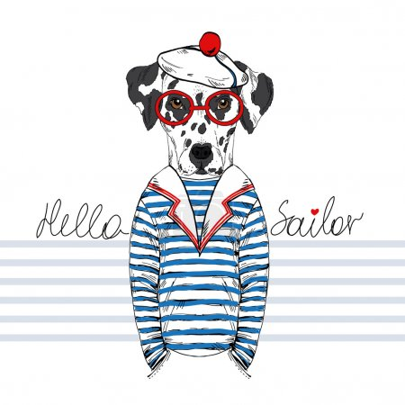 dalmatian doggy sailor