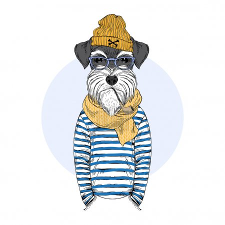 schnauzer dog sailor