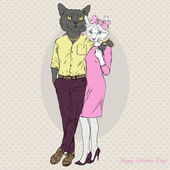 fashion cats couple