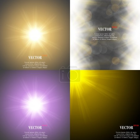 Summer sun light burst. If you enjoy the hot and glittering summer sun, that is background with space for your message. EPS10. Vector