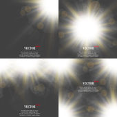 Abstract blurry background with overlying semi transparent circles light effects and sun burst Vector illustration