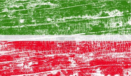 Ilustración de Bandera de Tatarstán con textura antigua. Ilustración de vector - Imagen libre de derechos