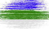 Flag of Komi with old texture Vector