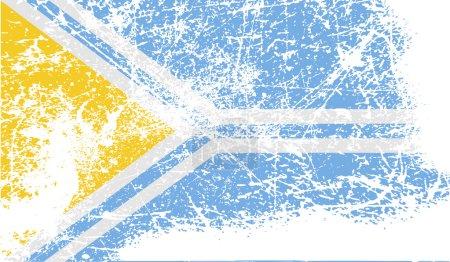 Ilustración de Bandera de la República de Tuva, Rusia con textura antigua. Ilustración de vector - Imagen libre de derechos