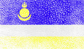 Flag of Buryatia with old texture Vector