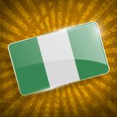 Flag of Nigeria with old texture Vector