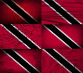 Flag of Trinidad and Tobago with old texture Vector