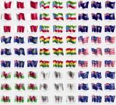Bahrain Equatorial Guinea Saint Helena Pitcairn Islands Ghana Malaysia Wales Saint Barthelemy Cook islands Big set of 81 flags Vector