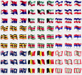 Saint Martin Kuwait Los Altos Uganda Suridame Republika Srpska Anguilla Belgium Sikkim Big set of 81 flags Vector