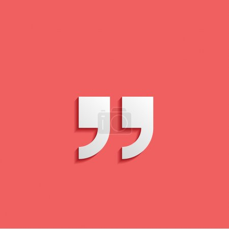 Quotation mark symbol. Double quotes at the end of words Quote s