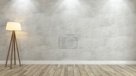 Photo for Concrete wall with under 3 spot light for your design - Royalty Free Image