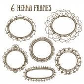 Floral frames in Indian style