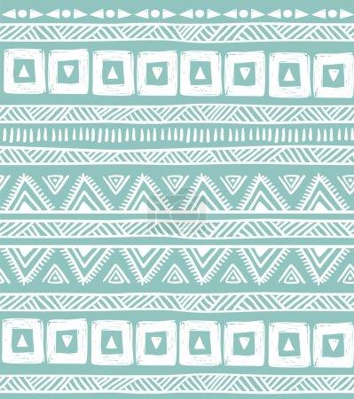 Green tribal striped seamless pattern.
