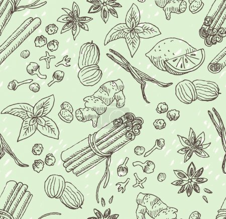 Spice hand-drawn background