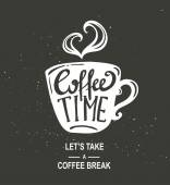 Coffee Time Hipster Vintage Lettering