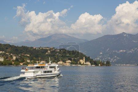 Boat on Como Lake, Italy