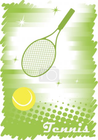 Abstract tennis banner.Green background.Green tennis court with