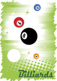 Abstract colorful billiard poster