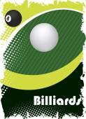 Green billiard eyePoster background