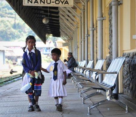 Group of Sri Lankan school